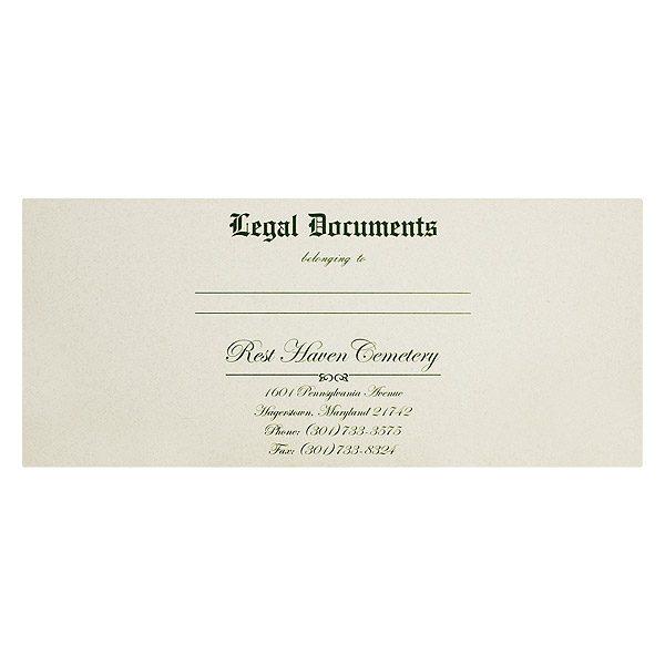 Rest Haven Cemetery Document Presentation Folder (Front View)