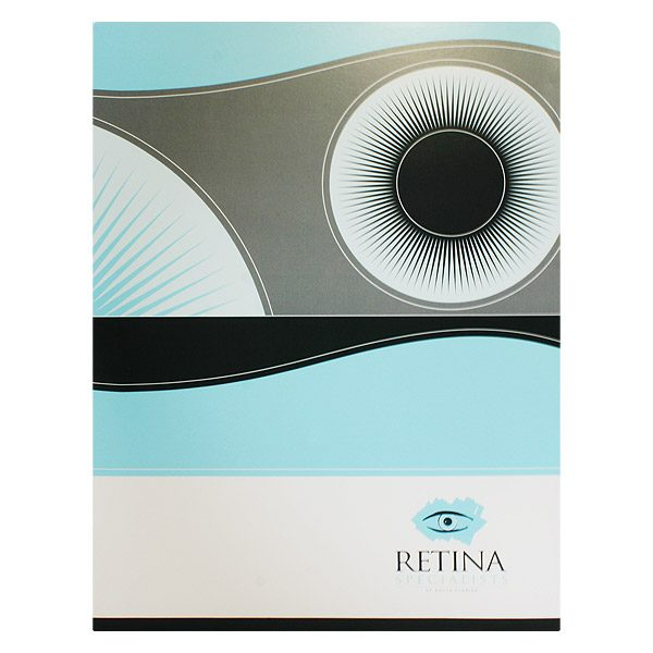 Retina Specialists of South Florida Blue Eyeball Folder (Front View)
