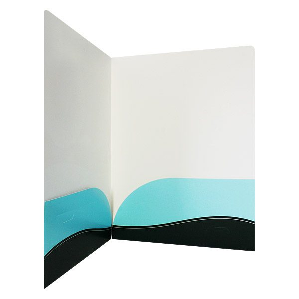 Retina Specialists of South Florida Rounded Pocket Folder (Inside Pocket View)