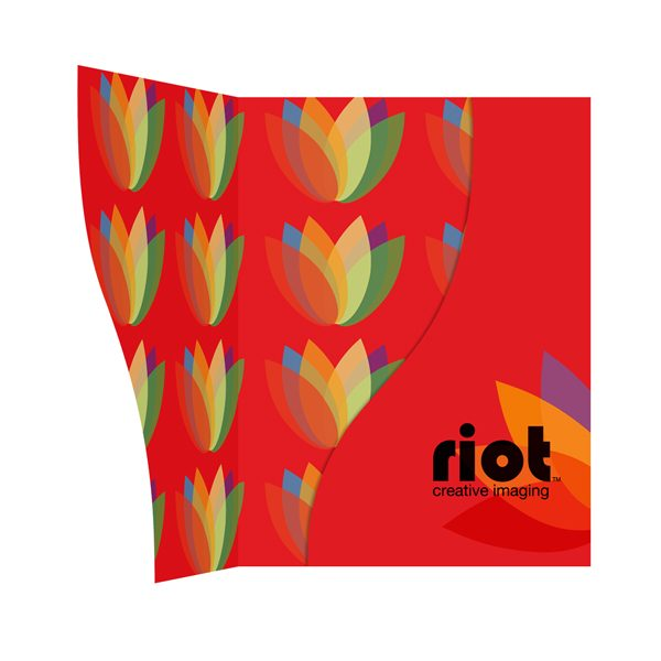 Riot Colorful Presentation Folder (Inside View)
