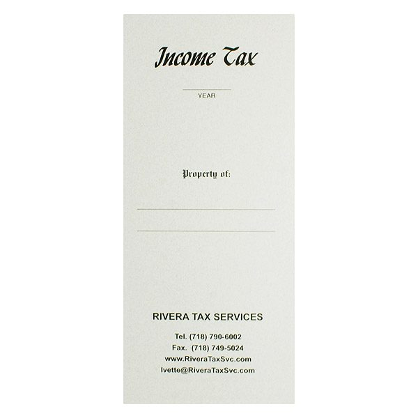 Rivera Income Tax Return Folder (Front View)