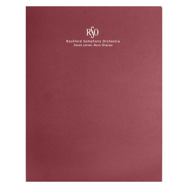 Rockford Symphony Orchestra Presentation Folder (Front View)