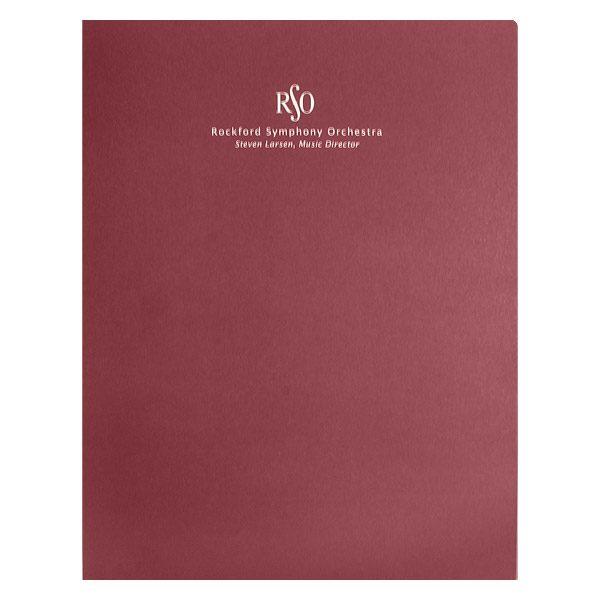 Rockford Symphony Orchestra Presentation Folder (Front View)