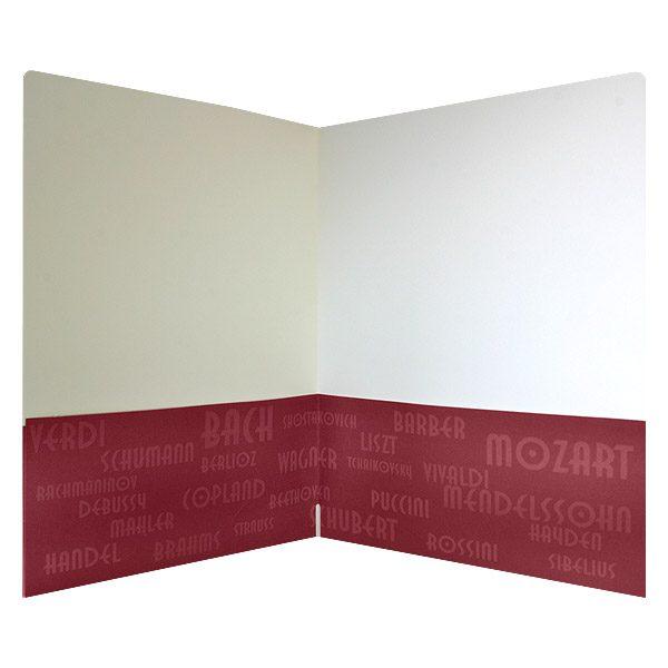 Rockford Symphony Orchestra Monogrammed Pocket Folder (Open View)