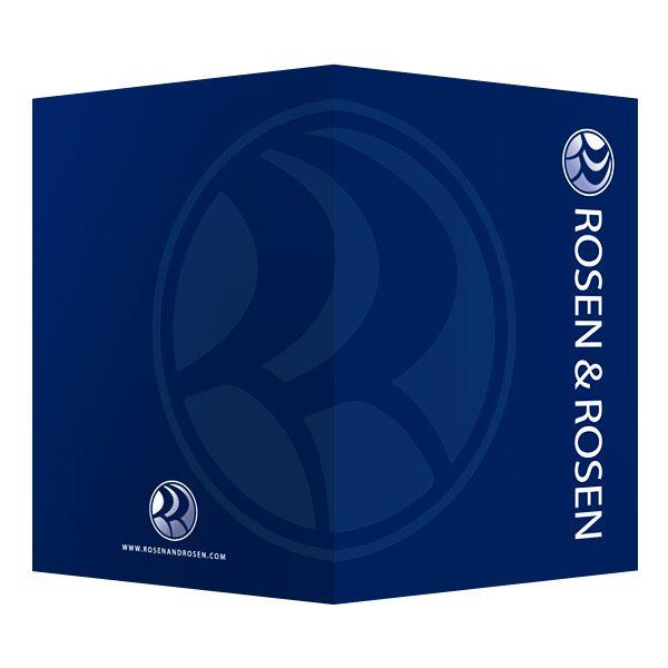 Rosen & Rosen Pocket Folder (Front and Back View)
