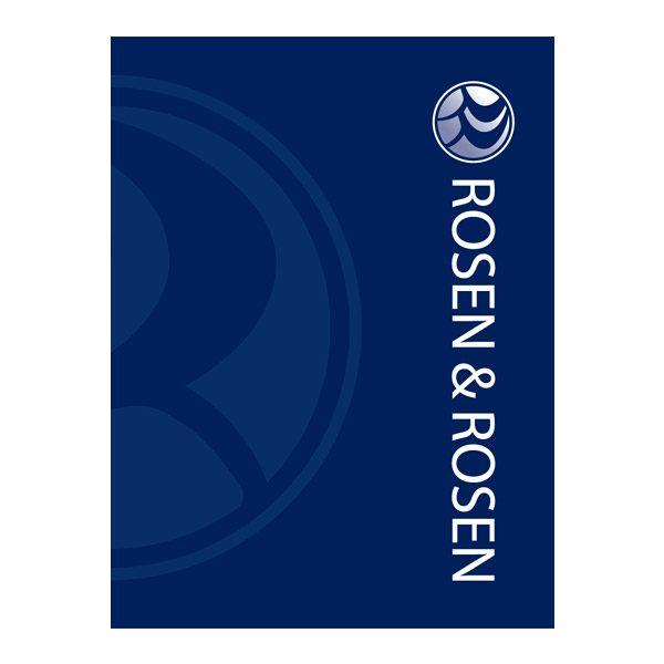 Rosen & Rosen Cool Blue Presentation Folder (Front View)