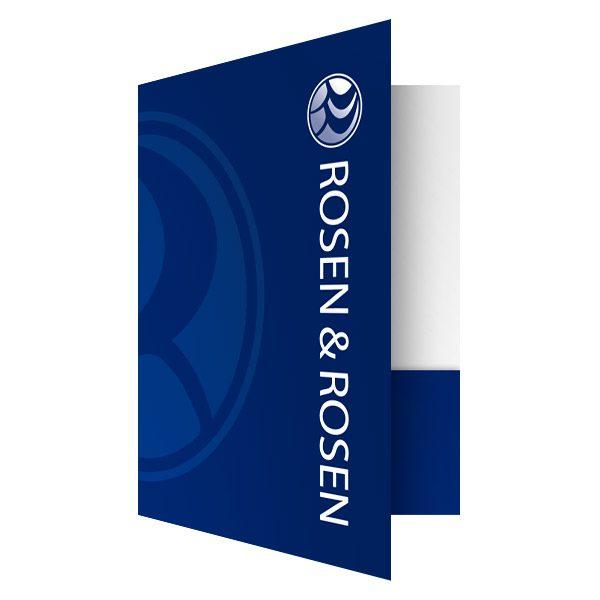 Rosen & Rosen Cool Blue Folders (Front Open View)