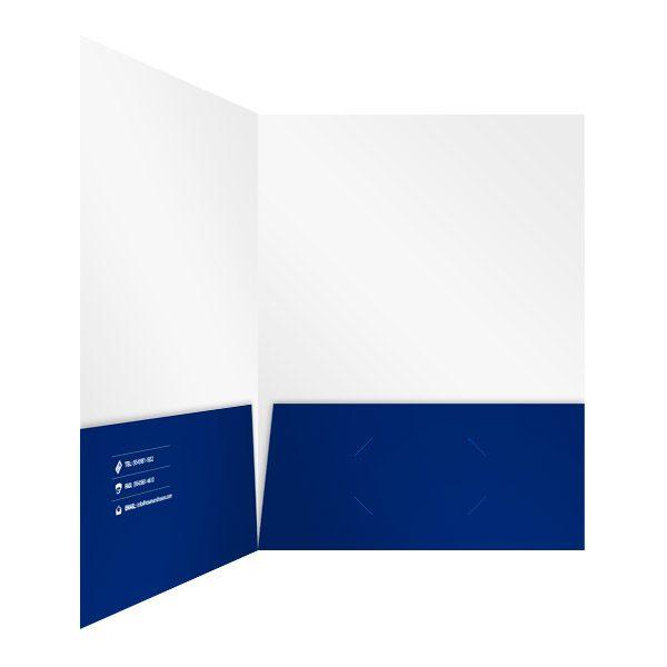 Rosen & Rosen Folder with Two Blue Pockets (Inside Right View)