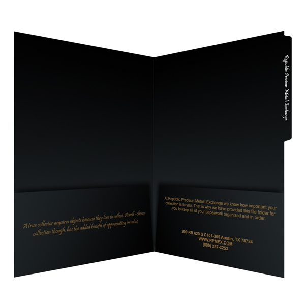 RPMEX 2-Pocket Tabbed Branding Folder (Inside View)