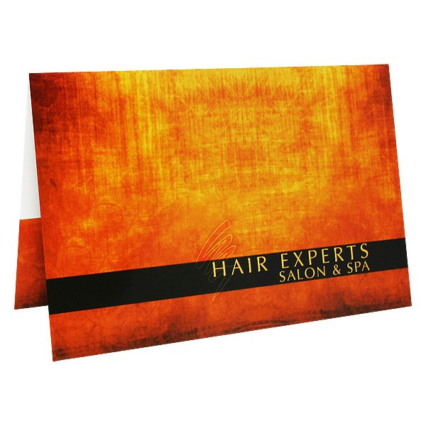 Salon & Spa Gift Card Holders by Hair Experts (Front Open View)