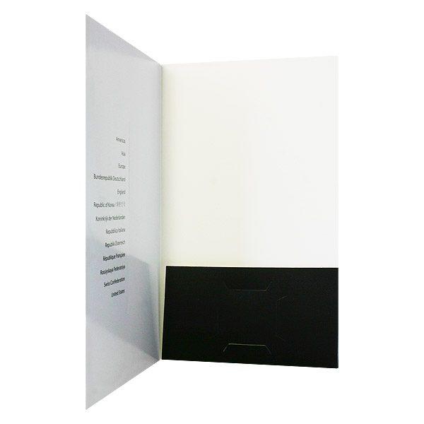Sandy Cameron Classical Folder Design (Inside View)