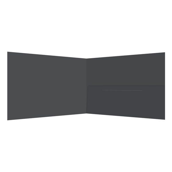 Jennifer Schwartz Gallery Grey 1-Pocket Folder (Inside View)