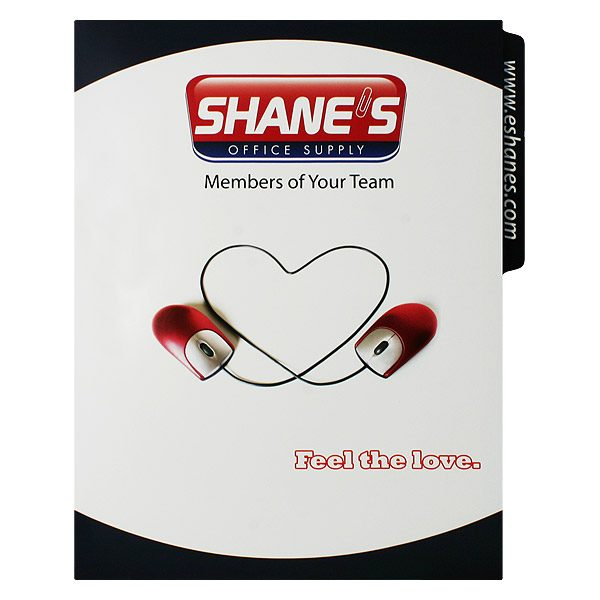 Shane's Office Supply Single Pocket File Folder (Front View)