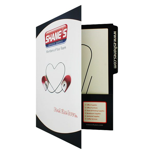 Shane's Heart Logo Pocket Folder (Front Open View)