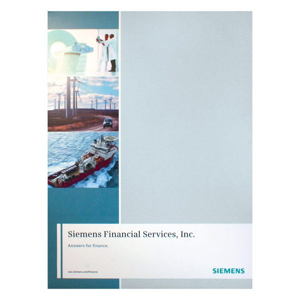 Siemens Financial Services Presentation Folder (Front View)
