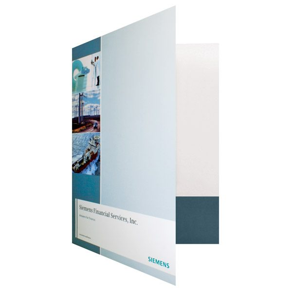 Siemens Triple Photo Finance Folder (Front Open View)