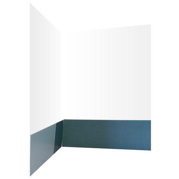 Siemens Steel Blue Presentation Folder (Inside Pocket View)