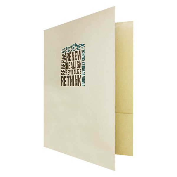 Recycled Presentation Folders for Sierra Business Council (Front Open View)