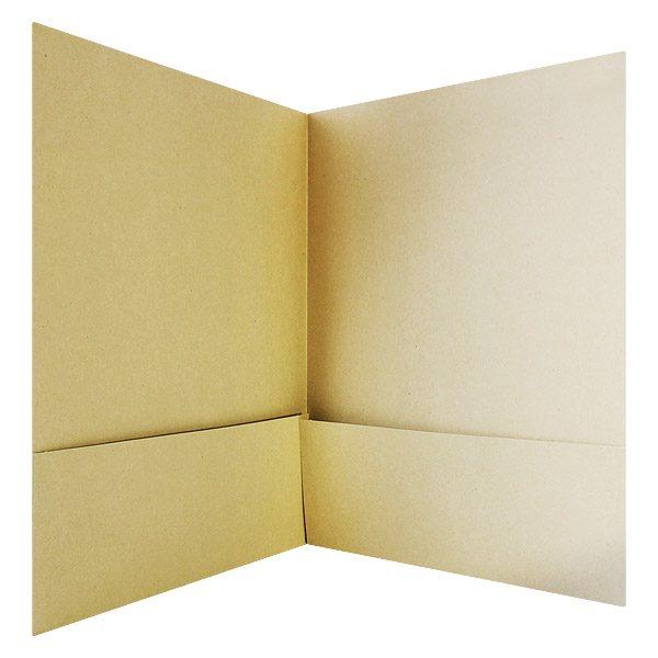Sierra Business Council Brown Pocket Folder (Inside View)