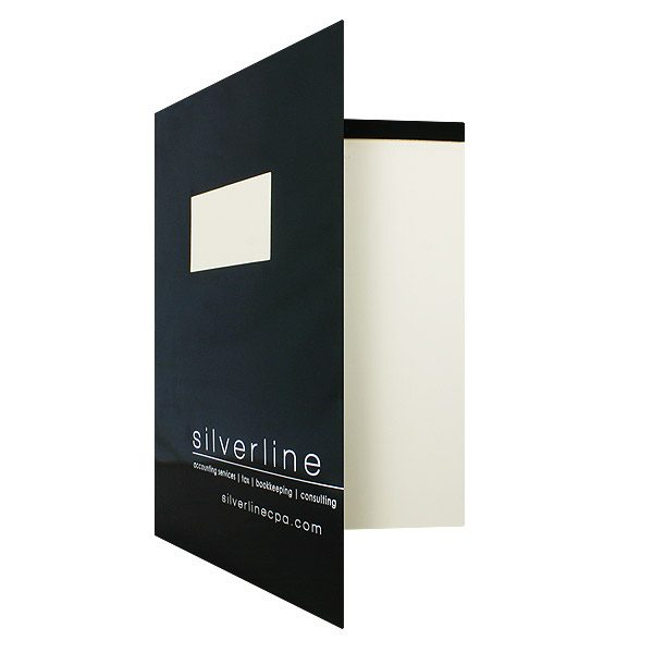 Silverline Accountant's Taxes Folder (Front Open View)