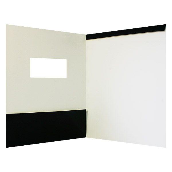 Silverline Die Cut Window Pocket Folder (Inside View)