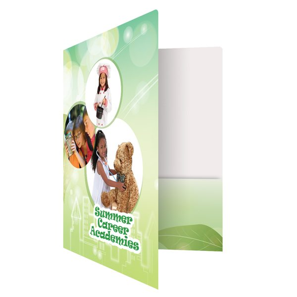 Student Pocket Folders for Summer Career Academies (Front Open View)