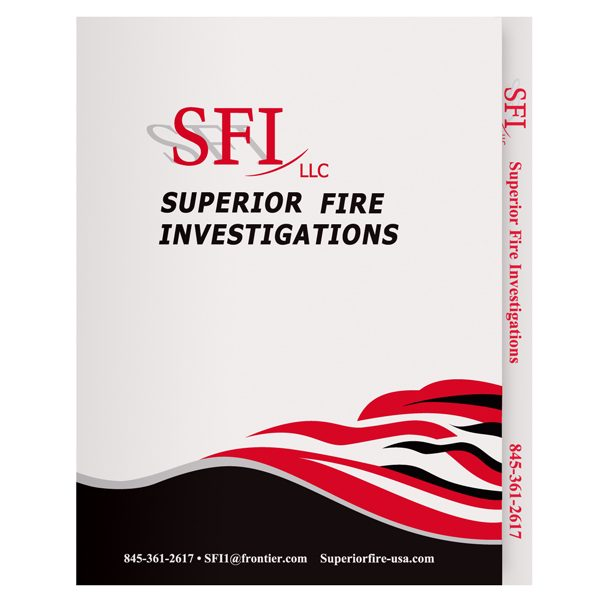 Superior Fire Investigations Two Pocket File Folder (Front View)