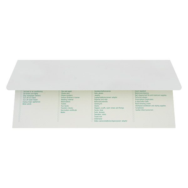 Tailwinds Travel Simple Document Folder (Back Open View)