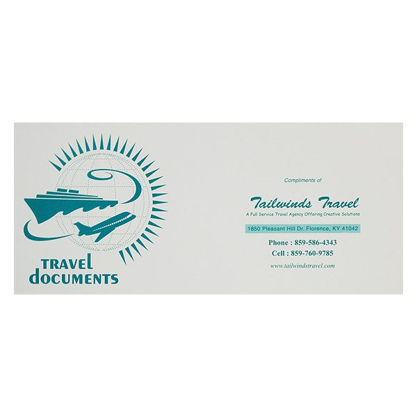 Tailwinds Travel Agency Documents Folder (Front View)
