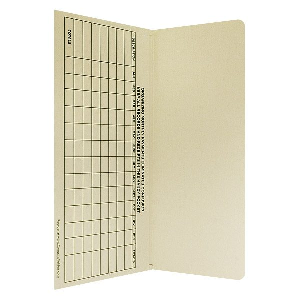 Telco Credit Union Ledger Pocket Folder (Inside Pocket View)