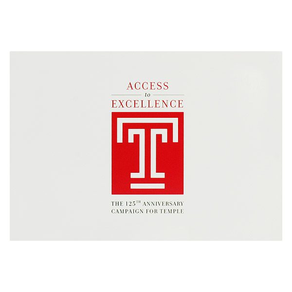 Temple University Graduation Photo Folder (Front View)
