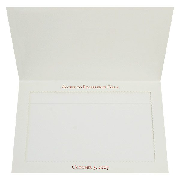 Temple University 4x6 Graduation Photo Folder (Inside View)