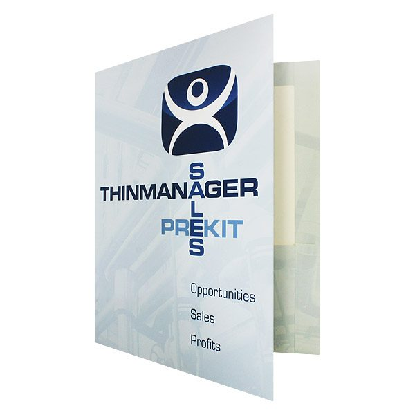 Sales Presentation Folder for ThinManager (Front Open View)