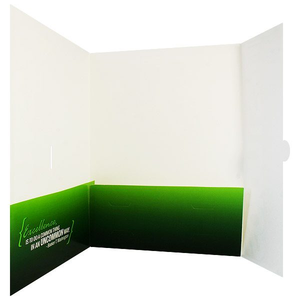 TM Studios 3 Fold Pocket Folder (Inside View)