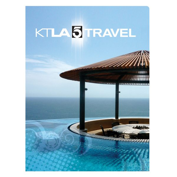 KTLA 5 Travel Panoramic Pocket Presentation Folder (Front View)