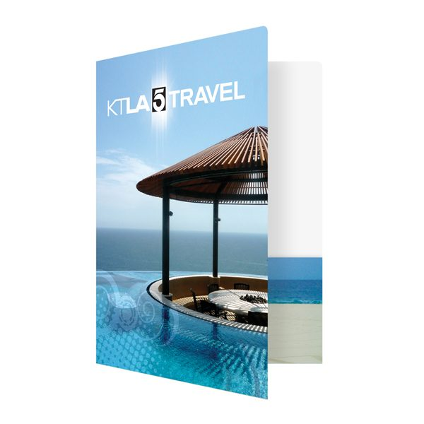 KTLA 5 Travel Beach Scene Presentation Folder (Front Open View)