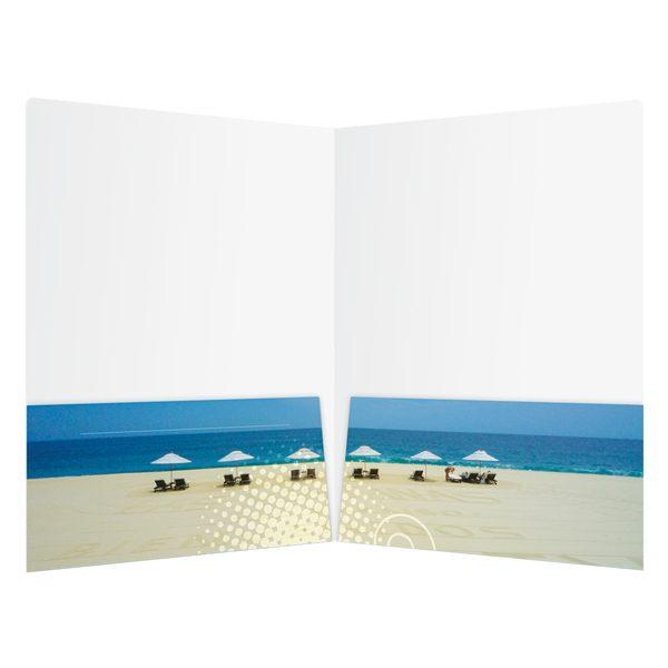 KTLA 5 Travel Folder with Panoramic Pockets (Inside View)