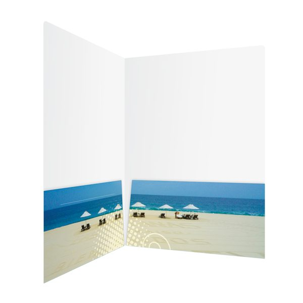 KTLA 5 Panoramic Beach Pocket Folder (Inside Right View)