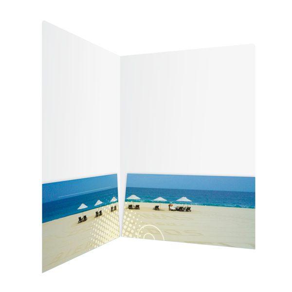 KTLA 5 Panoramic Beach Pocket Folder (Inside Right View)