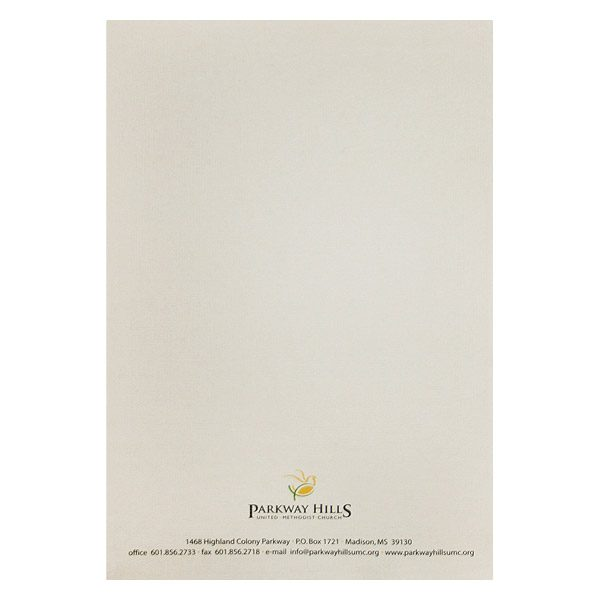 Parkway Hills Simple Church Logo Folder (Back View)