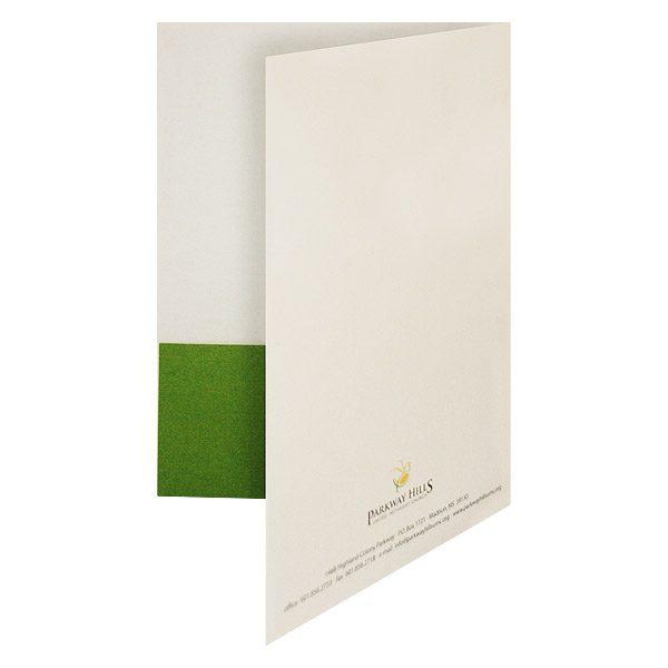 United Methodist Church Presentation Folder (Back Open View)