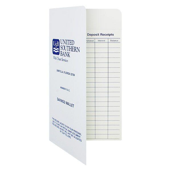 Folder Design: Bank Receipt Folders for United Southern Bank