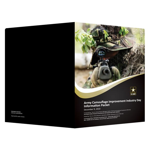 U.S. Army Recruiting Presentation Folder (Front and Back View)