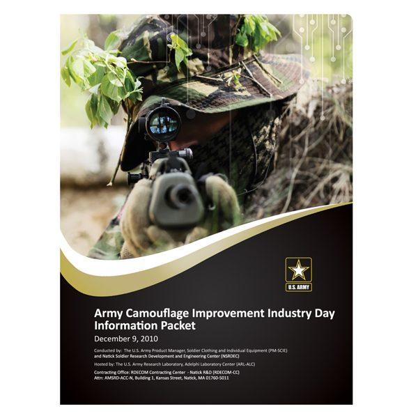 U.S. Army Camouflage Presentation Folder (Front View)