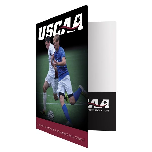 Business Pocket Folders for USCAA (Front Open View)