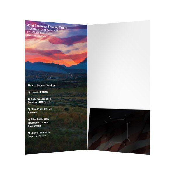 JLTC Single Pocket Folder (Inside View)