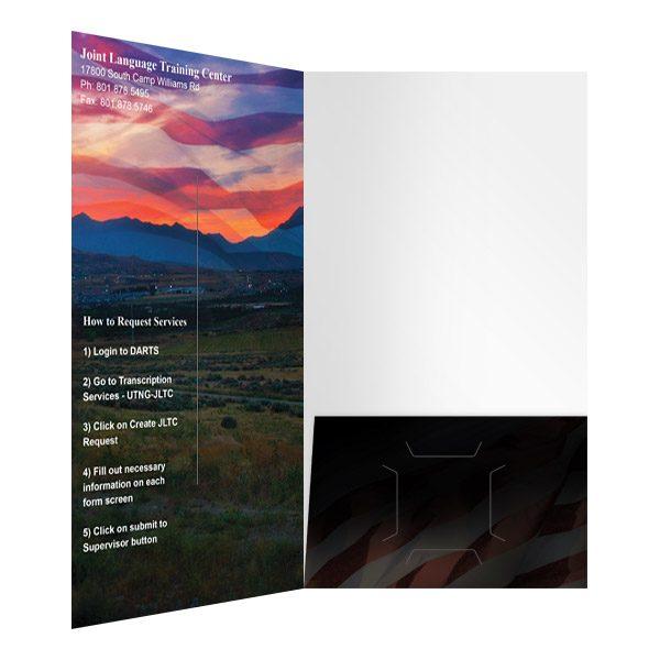JLTC American Flag Presentation Folder (Inside Right View)