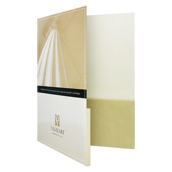 Vigilare Box Pocket Folder (Front Open View)