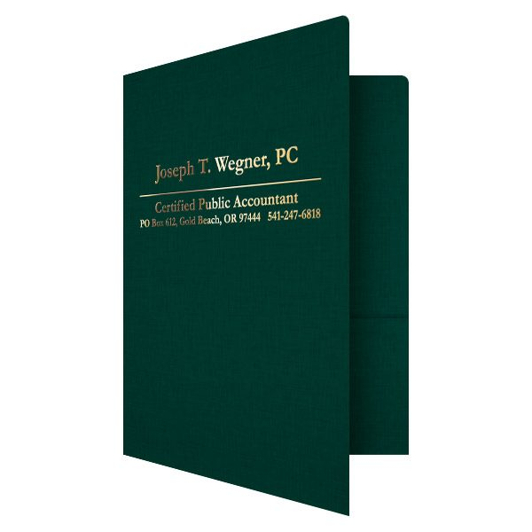 Wegner Accountant Presentation Folder (Front Open View)