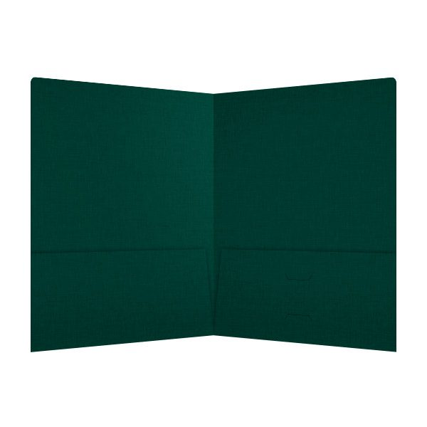 Wegner Blank Green Pocket Folder (Inside View)